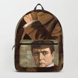 Sherlock Holmes vintage poster art Backpack
