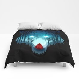 Big Bad Wolf (dark version) Comforters