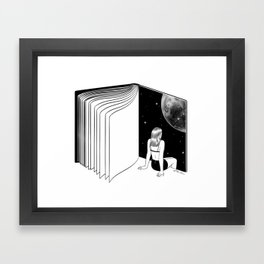 Reading is Dreaming with Your Eyes Open Framed Art Print