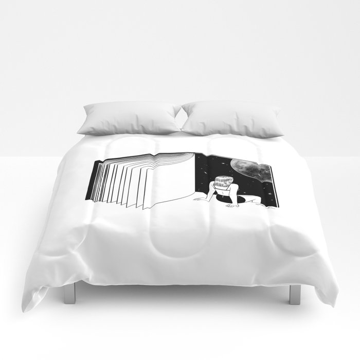 Reading is Dreaming with Your Eyes Open Comforters