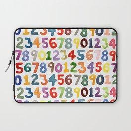 Watercolor Numbers Laptop Sleeve
