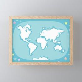 world map Framed Mini Art Print