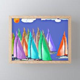 Against the Wind Framed Mini Art Print