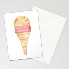 Watercolour Illustrated Ice Cream - Peony Pleasure Stationery Cards