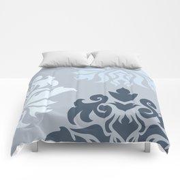 Ornate Damask Art I – Blues (A) Comforters