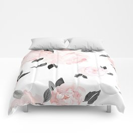 Vintage Blush Floral - BW Comforters