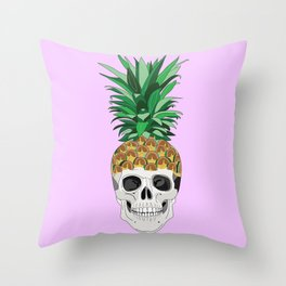PINESKULL PINK Throw Pillow