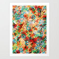 Flower Fight Art Print