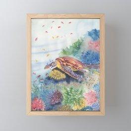 Sea Turtle and Friends Framed Mini Art Print