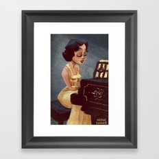 piano girl Framed Art Print