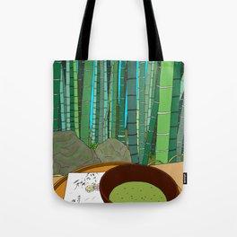 Bamboo Temple in Japan Tote Bag