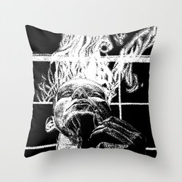 Ink and smoke Throw Pillow