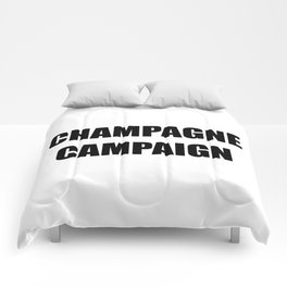 Champagne Campaign Mmm Bubbles Comforters