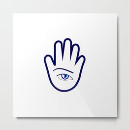 Hand of a fortune teller Metal Print
