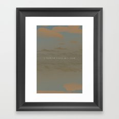 I wandered Framed Art Print