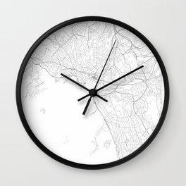 Oslo, Norway Minimalist Map Wall Clock