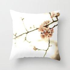 pinky petals  Throw Pillow