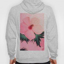 Tropical Pink Hibiscus Flower Print Hoody