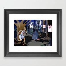 Jason Kidd cheating basketball death Framed Art Print