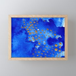 gold snow I Framed Mini Art Print