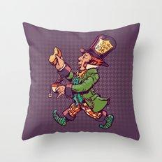 As A Hatter Throw Pillow