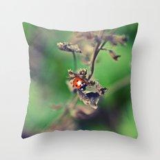 The Summer Bug Throw Pillow