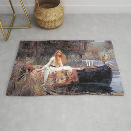 The Lady Of Shalott John William Waterhouse Rug