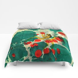 Marbling illustrated Comforters
