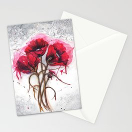 Lisa's Red Poppies Stationery Cards