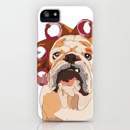 English Bulldog-Mornings are not my cup of coffee! iPhone Case