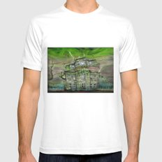 The Ghosthouse Mens Fitted Tee White MEDIUM