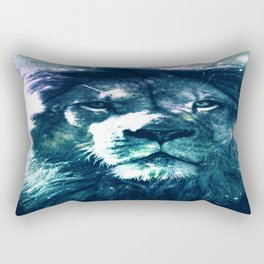 Lion Leo Teal Rectangular Pillow