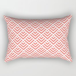 Living Coral Pattern I Rectangular Pillow