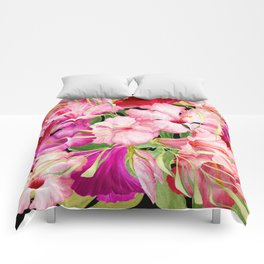Tropical Power Flowers Comforters