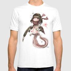 Axolotl Barbare Mens Fitted Tee White MEDIUM
