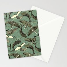 whales and waves aqua Stationery Cards