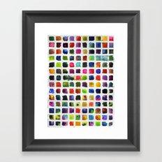 Watercolor Squares Framed Art Print