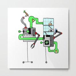 Robo-Ham Metal Print