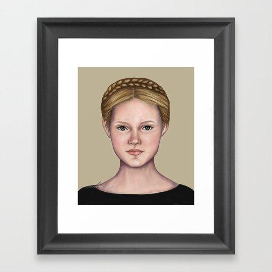 Blonde maiden Framed Art Print