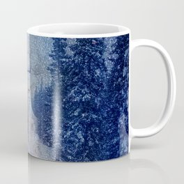 Chairlift into the Universe // Milky Way Galaxy Snowboarding Snow Nebula Stars Mixed Media Popart Coffee Mug