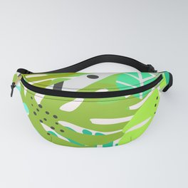 Green quiet jungle Fanny Pack