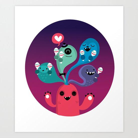We love Fiesta Art Print