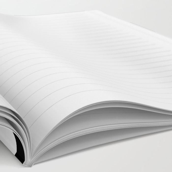 Checker Cross Squares Black & White Notebook