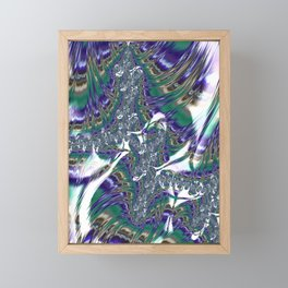 Multicolored Abstract Fractal Framed Mini Art Print