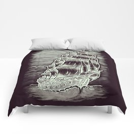 Caleuche Ghost Pirate Ship Variant Comforters