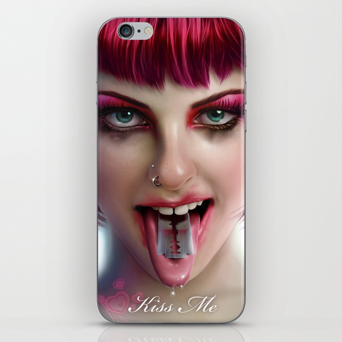 KISS ME - Pink iPhone Skin