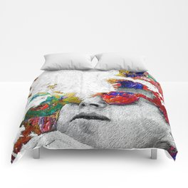 John F Kennedy Cigar And Sunglasses Colorful Comforters