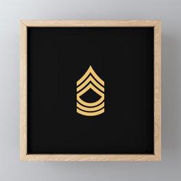 Master Sergeant (Gold) Framed Mini Art Print
