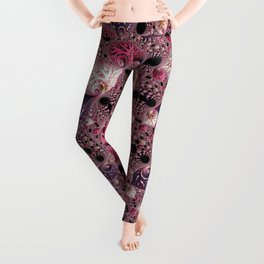 Pink Fractal Leggings