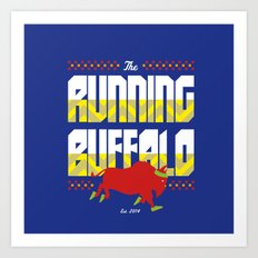 The Running Buffalo Art Print